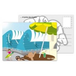 Carte postale ...à la place des Landais