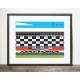 Poster courses automobiles à Daytona