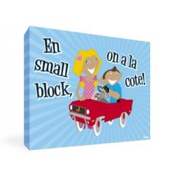 Tableau enfant et voiture à pédale