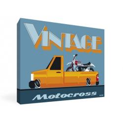 Tableau Vintage Motocross