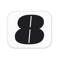 "Sticker numéro ""Néo rétro"" 8'"