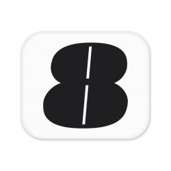 Sticker numéro pour plaque latérale