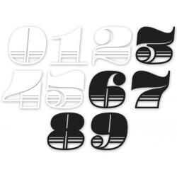 Sticker numéro Néo rétro 6\' (15cm)