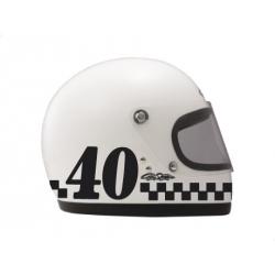 Numéro de course rétro pour casque (3 pouces)