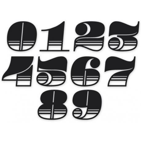 Sticker casque numéro de course Néo rétro