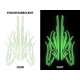 Stickers pinstriping phosphorescent pack A
