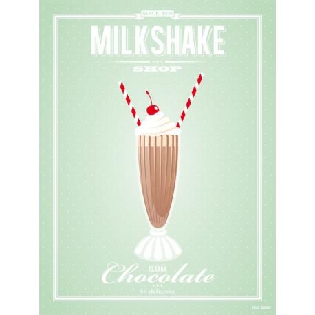 Chocolate milkshake poster
