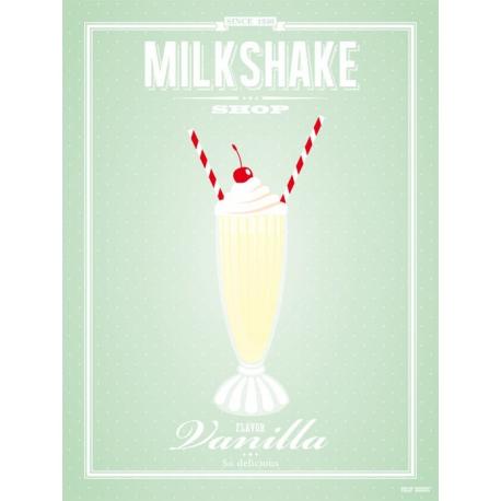 Vanilla milkshake poster