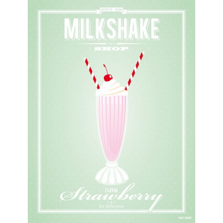 Poster Milkshake Strawberry