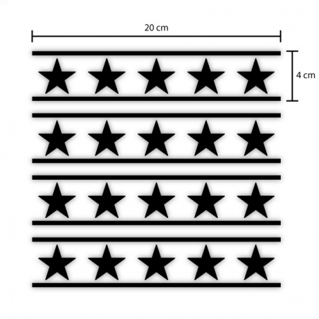 Stickers bandes et étoiles pour casque, moto