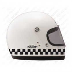 Stickers damiers pour casque, moto