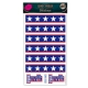 Planche Stickers Stars & Stripes bleue