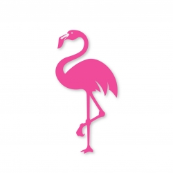 Sticker Flamingo left