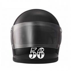 Sticker casque numéro de course ajouré 4 cm