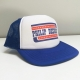 Blue patriot snapback trucker cap