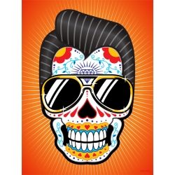 King Mexican Skull poster