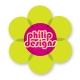 Flower sticker 8 cm high