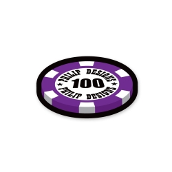 casino token sticker