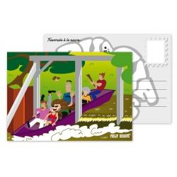 Carte postale courant d'huchet