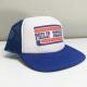 Blue patriot snapback trucker cap
