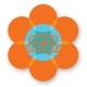Flower sticker 6cm high