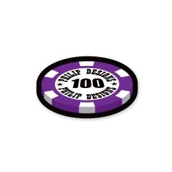 casino token sticker